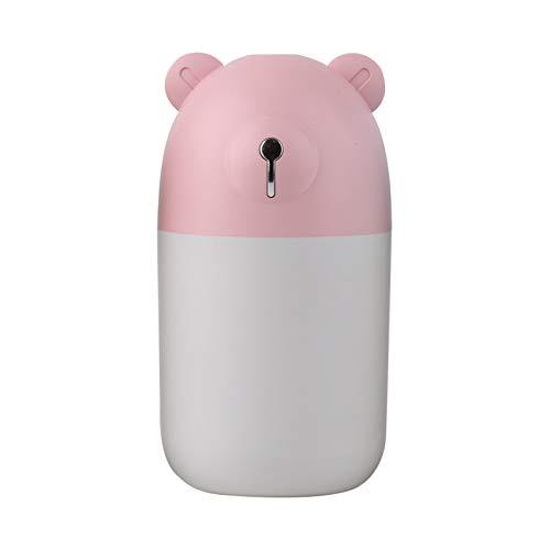 MagiDeal Humidificadores de Niebla fría para el Dormitorio humidificador de Aire fácil de Limpiar y controlar 8H Tiempo de Trabajo 7 Luces de Color - Rosa