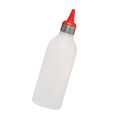 Amuzocity Dispenser per Aceto Maionese Al Pomodoro Da Spremere 450 Ml Rosso