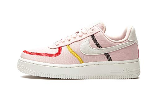 Nike Wmns Air Force 1 '07 LX, Zapatillas de básquetbol Mujer, Silt Red Summit White BRT Citron Univ Red Black, 40.5 EU