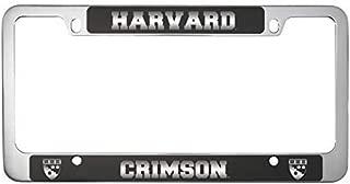 Harvard University -Metal License Plate Frame-Black