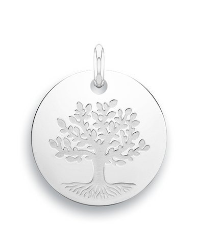 Árbol de la vida-Medalla-Plata 925/00-diámetro: 17 mm.