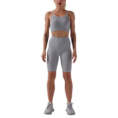 Moda para Mujer Alta Culturismo Cintura Piezas Dos Festivo Moda Pantalones Cortos Ajustados Primavera Verano Manga Larga Transpirable Casual Básico Cómodo Traje para Correr