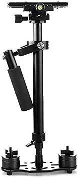 Estabilizador de Mano Gradienter portátil Estabilizador retráctil de aleación de Aluminio Steadycam para videocámara DV con cámara DSLR - Negro