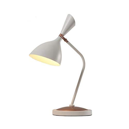 WYJBD Lámpara de Mesa Creativa Europea, ángulo Ajustable de Metal Sala de Estar lámpara de Estudio Dormitorio Oficina de Arte (Color : White)