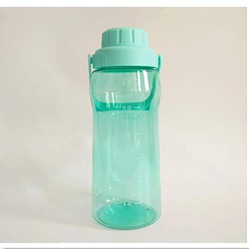 caomei Groene transparante plastic outdoor drinkwater fles waterkoker met handvat rechte drank grote capaciteit 1800ML