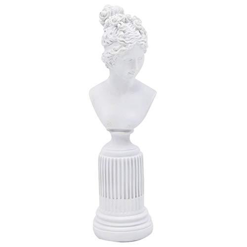 Garneck Figurine della Dea della Resina Busto Statua Dea Dell'ufficio Scultura Home Office Decor Tavolo Scaffale Armadio Desktop da Collezione Decorativo Bianco