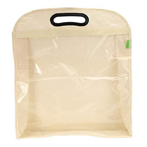 Opbergtas voor handtassen, transparant, stofbeschermingsdoek opbergtas voor dikke portemonnee, effectieve bescherming voor ladybag opbergtas XL