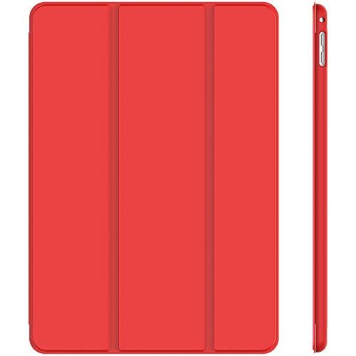 JETech Hülle Kompatibel Apple iPad Mini 4, Schutzhülle mit Ständer Funktion & Auto Schlafen/Wachen, Rot
