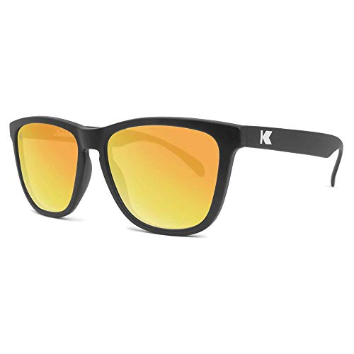 Knockaround Classics Polarized Sunglasses With Matte Black Frames/Yellow Reflective Lenses