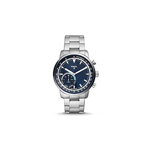 Fossil Hybrid Smartwatch - Q Goodwin Zilver roestvrijstalen herenhorloge (FTW1173)
