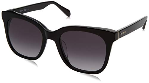 Fossil FOS 2098/G/S Sunglasses, Black, 53 Womens