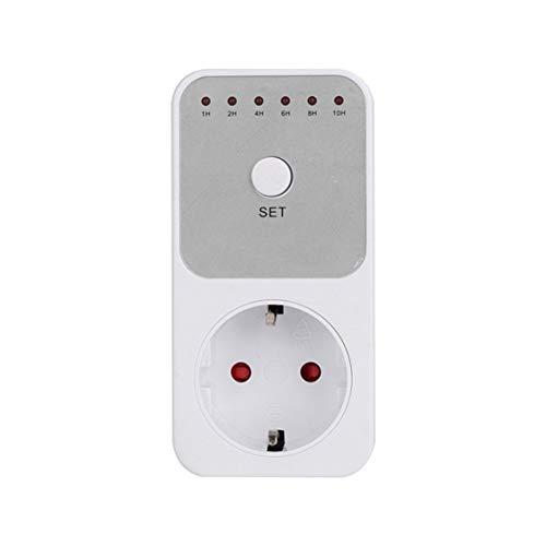 Mini LED 230V 16A 1h-10h Temporizador de cuenta atrás Interruptor Socket Outlet Control de tiempo de enchufe para la cocina Aparato eléctrico Enchufe de la UE