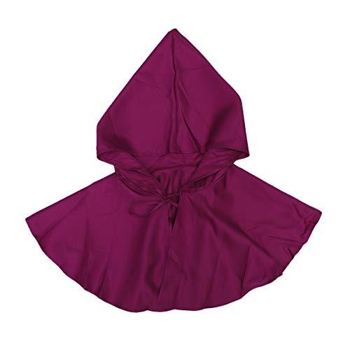 BESPORTBLE Disfraz de Halloween, capa con capucha, cosplay, muerte de vampiro, abrigo para adultos, Halloween, Navidad, fiestas, color rojo