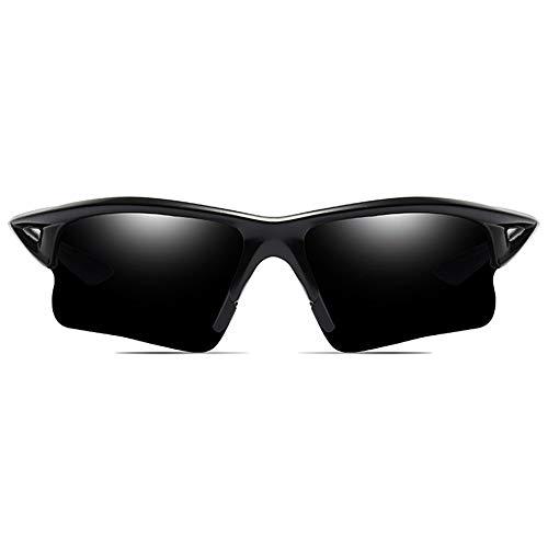 MGWA Gafas de sol para ciclismo y deportes al aire libre, material de policarbonato, marco negro, gris/azul y verde, lentes para hombres y mujeres con...