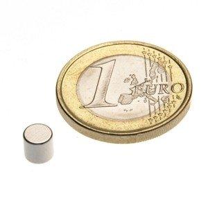 Scheibenmagnet Ø 5,0 x 5,0 mm N45 Nickel - hält 1,1 kg, Neodym Supermagnet Powermagnet Haftmagnet, Magnetscheibe, Zylindermagnet