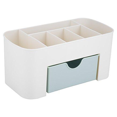 Nikou Cosmetic Organizer Multifunktions-Make-up-Aufbewahrungsbox Home Desktop Organizer mit Schubladen (Farbe : Blau)