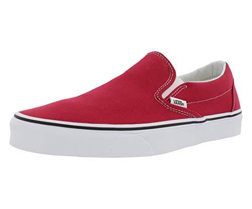 Vans 'Classic Slip-On Sneakers (Crimson/True White) Unisex Red Skate Shoes