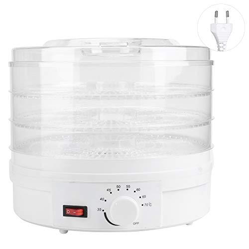 Máquina de deshidratación de alimentos mini transparente de 3 capas Máquina de deshidratación en seco de alimentos eléctricos Trail Food Preserver Máquina para frutas medicinales(Enchufe de la