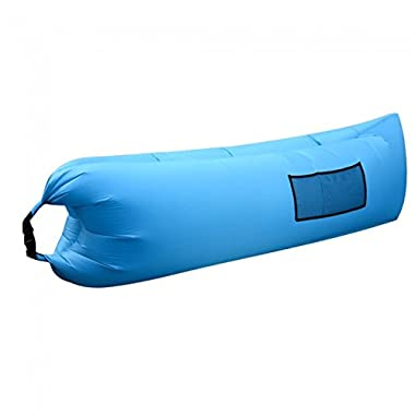 EDOBIL Inflatable Lounger Air Sofa Water Proof & Anti-Air Leaking Couch with Portable Package for Travelling, Camping, Hiking, Pool and Beach Parties (Blue Sofa)