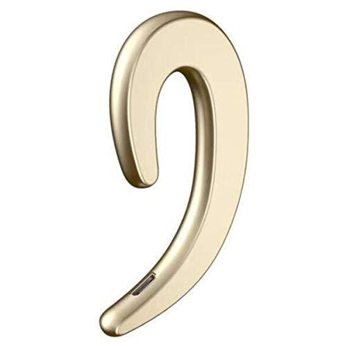 Topsale-ycld Auriculares inalámbricos de Gancho para la Oreja micrófono Bluetooth 4.1 Sin Tapones para los oídos Auriculares para teléfonos celulares (Color : Gold)