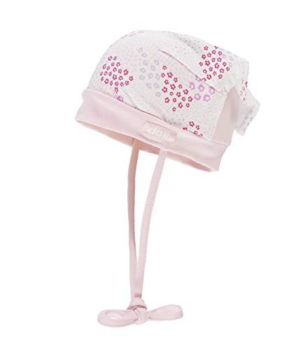 Döll Baby-Mädchen Kopftuchmütze zum Binden Jersey Sonnenhut, Rosa (Pink Lady|Rose 2720), 49