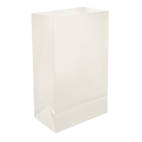 Lumabase 500100 100 Count Plastic Luminaria Bags, White