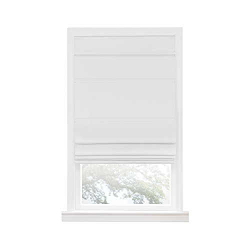 "Achim Home Furnishings Achim Home Imports Cordless Blackout Window Roman Shade, 31"" x 64"", White"