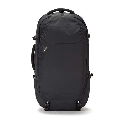 Pacsafe Venturesafe EXP65 Anti-Diebstahl Rucksack, Reiserucksack, Trekking Rucksack, Wanderrucksack mit Sicherheitstechnologie, 65 Liter, Schwarz/Black