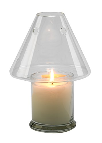 Biedermann & Sons Decorative Glass Jar Candle Shade, 6 x 4.5-Inches, Clear