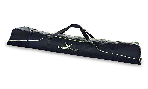 Black Crevice Skitasche für 3 Paar Alpin Skier, 190 cm, Black/Yellow