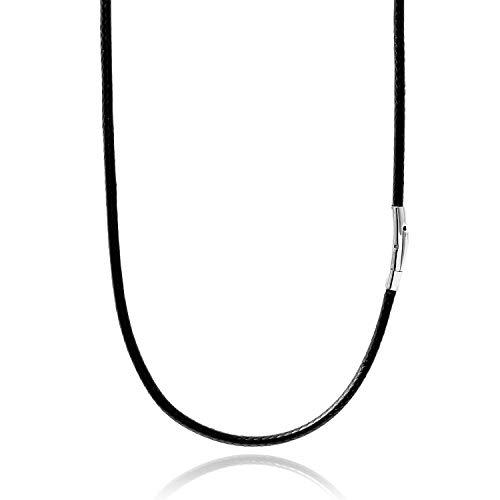 【SIMPS】チョーカー ネックレス 紐 ネックレスメンズ (3mm/45cm(金具5mm))