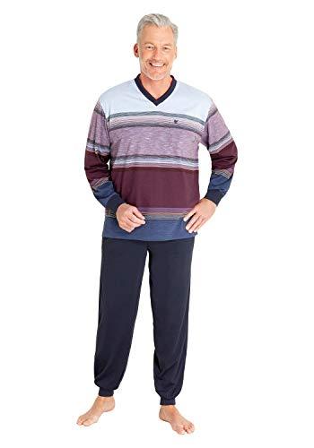 hajo Herren Zweiteiliger Schlafanzug - Klima Komfort, Farbe:Uni ((303)), Größe:56