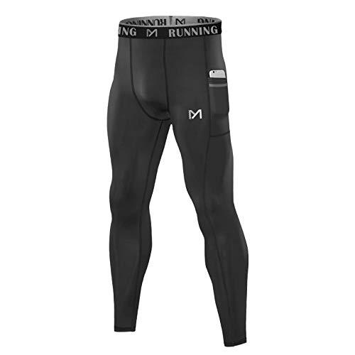 MEETYOO Kompressionshose Herren, Sport Leggings Laufhose Lang Unterhose Männer Tights Atmungsaktiv Fitnesshosen für Running Gym Yoga