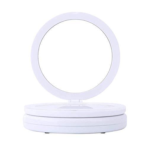 Spiegelsdubbelzijdige Led-Verlichte Inklapbare Ijdelheid 1X / 5X Vergrotende Make-Upspiegel Lichtgewicht En Compact Voor Op ReisUsb Powered-A