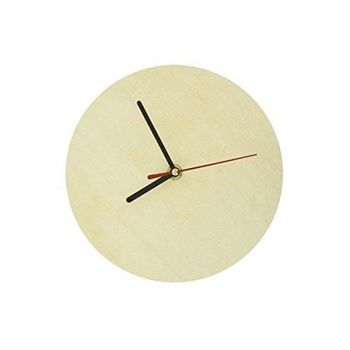 GLOREX Uhr Rund 30 cm, Fsc, Holz, Natur, 30 x 30 x 2 cm