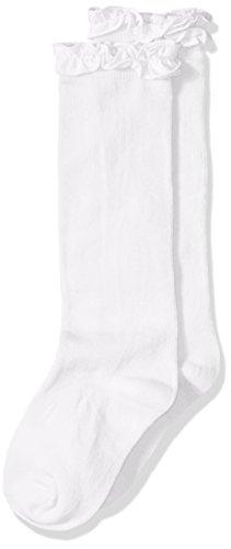Jefferies Socks Kniestrümpfe für kleine Mädchen, Rüschen, 1 Stück - Weiß - Large