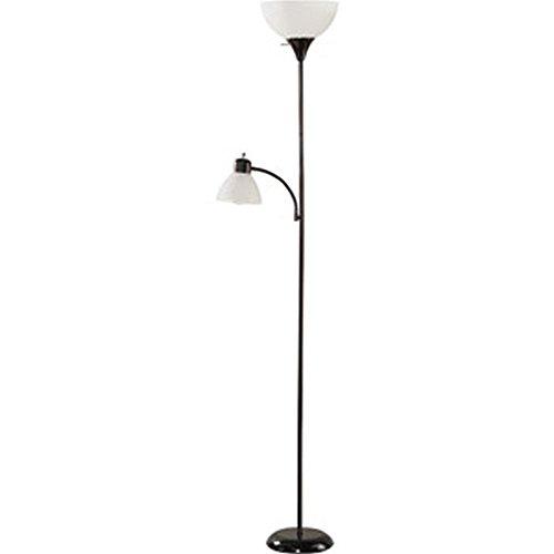 "Black Floor Lamp with Reading Light - 72"""