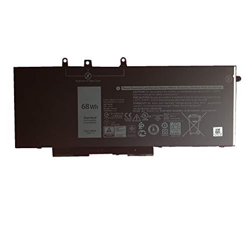 SUNNEAR GJKNX Laptop Battery Replacement for Dell Precision 15 3520 3530 M3520 M3530 Latitude 14 E5480 E5490 E5491 Latitude 15 E5580 E5590 E5591 Series 93FTF 3DDDG GD1JP DY9NT 5YHR4 7.6V 68Wh 8500mAh
