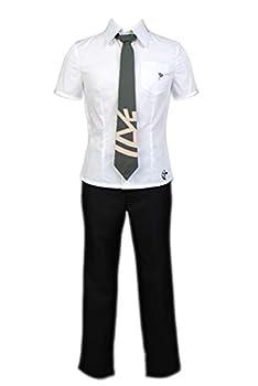 COSTHAT Danganronpa Hajime Hinata Cosplay Outfit Costume Halloween School Uniform with Tie Women