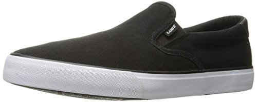 Lugz Men's Clipper Fashion Sneaker, Black/White, 9 M US