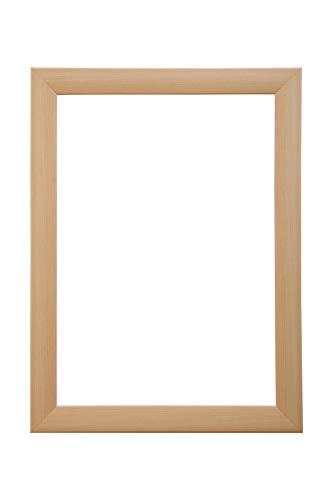 EUROLine35 mm Bilderrahmen für 99 x 30 cm Bilder, Farbe: Ahorn, inkl. entspiegeltem Acrylglas und MDF Rückwand, Rahmen Breite: 35 mm, Außenmaß: 104,8 x 35,8 cm