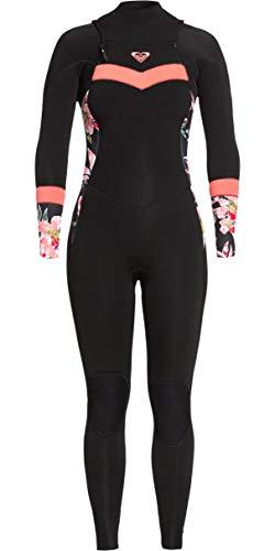 Roxy Traje de Neopreno Syncro Mujer de Syncro 3/2mm Chest Zip - Negro Coral Brillante - Capas de Capa térmica cálida y Ligera Estiramiento fácil