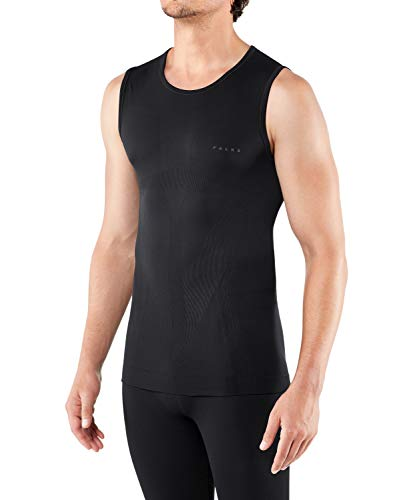 FALKE Herren, Singlet Warm Close Fit Funktionsfaser, 1 er Pack, Schwarz (Black 3000), Größe: XL