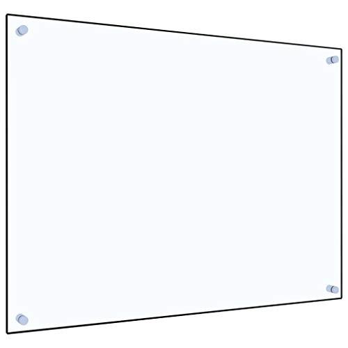vidaXL Küchenrückwand Spritzschutz Fliesenspiegel Glasplatte Rückwand Herdspritzschutz Wandschutz Herd Küche Transparent 80x60cm Hartglas