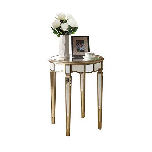 Beistelltische Nachttisch Kleiner Couchtisch neoklassischen Spiegel Massivholz Kleiner runder Farbe Glas Sofa Ecktisch