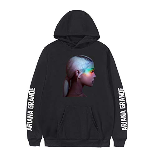 XUJIN Unisex 3D Print Hoodie Cooles, leichtes Sweatshirt mit Kapuze, Ariana Grande Album Cover Photo,BLACK6,S