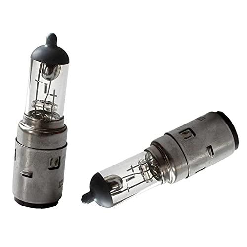 HURI 2 Stück Lampe Birne 12V 35/35W BA20d Sockel Bilux Halogen Glühbirne Glühlampe für Roller ATV Motorrad und KFZ