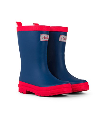 Hatley Kids' Little Classic Rain Boots, Navy & Red, 13 US Child
