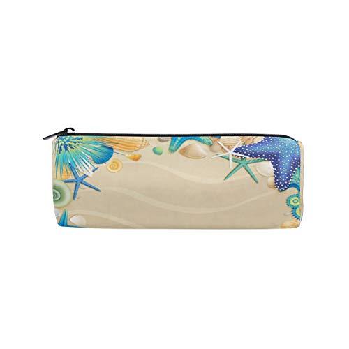 Ahomy Federmäppchen, Strand, Flip-Flops, Muscheln, Stifttasche, Studenten, Schreibwaren, Aufbewahrungstasche, Make-up-Tasche für Frauen