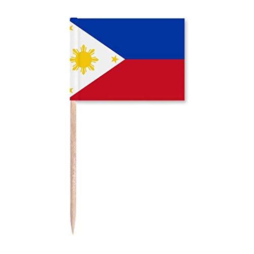Philippinen Nationalflagge Asien Land Zahnstocher Flaggen Marker Topper Party Dekoration